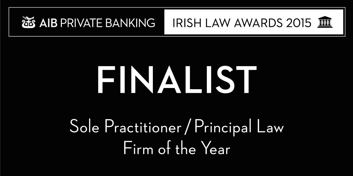 AIB Irish Law Awards 2015 – David Reilly Shortlisted As A Finalist